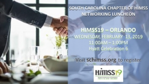 SC HIMSS Chapter Luncheon at HIMSS19